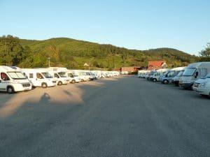 Wohnmobil-Reisen werden immer beliebter Stellplatz in Kaysersberg