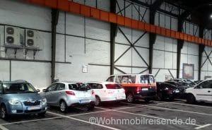 Parkplatz im Neptun Center, Rostock