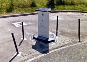 V/E Einirchtung am Stellplatz Oradour-sur-Glane